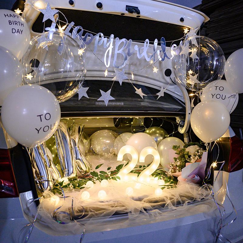 Net rouge tronc surprise voiture d'anniversaire voiture coffre surprise arrangement petite amie arrangement anniversaire