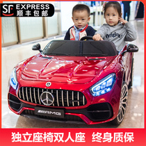 Baby children electric car four - wheel car boys and girls children baby toy car can sit two - seater with remote control baby buggy