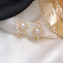 Pearl earrings niche design sense earrings simple high-grade temperament retro earrings 2021 new trend drop earrings