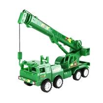 Inertia crane oversize construction truck crane military police car children toy car model 3-6 years old