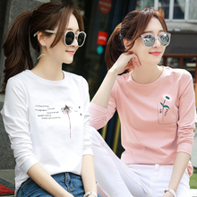 2 pieces of 69 yuan 2019 spring clothes new style long sleeve T-shirt women's loose Korean version spring bottom shirt early spring