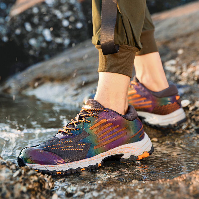Mountaineering shoes mens non-slip summer light sports leisure professional walking shoes waterproof rain-proof outdoor shoes waterproof shoes