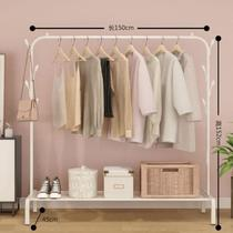 Clothes rail clothes rail bedroom clothes rack three-dimensional wall portable Japanese clothes hanger floor Nordic multi-functional