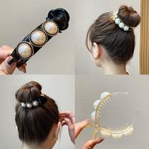 Hair clip female summer back of the head meatball head grab clip artifact Disc hair device Hair clip holder headdress Korean hair accessory