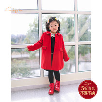 Words rain childrens clothing in the children of the New Year indispensable red Happy New Year wool coat padded thickened soft