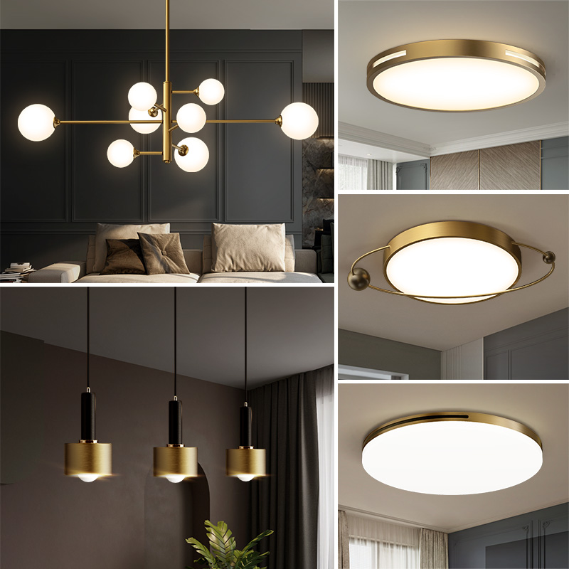 Modern Simple Living Room Lighting, Three Rooms, Two Rooms, Bedroom, Restaurant, All Rooms Lighting Set