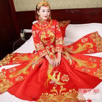 Bridal chinese dress show wo suit bridal dress wedding dresses ancient xiu kimono embroidered wo Clothing 2018 New