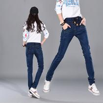 Elastic waist plus size relaxed slim Korean pencil pants