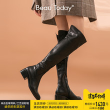 Beautoday2019 knee high boots women's new boots in autumn and winter