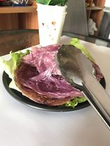 Taiwan purple potato Hand grab pie pastry 100 pieces Commercial pancake noodle Guangdong add paper bag