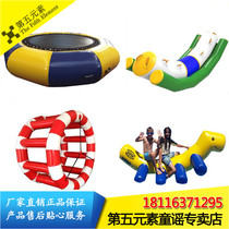 Inflatable water toys Water park equipment Seesaw Hot wheels Bouncing bed Gyro Slide Banana boat Pool