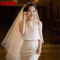 Two sets of fish tail wedding dress out yarn 2018 new summer show thin bridal light wedding Brigade Pat Tail