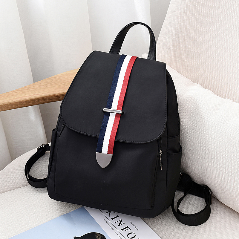 Backpack female 2018 new Korean version of the tide fashion wild casual Oxford cloth canvas bag ladies travel backpack