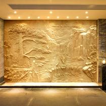 Профессиональный пользовательский искусственный песчаник стекловолокно имитация меди рельефный фон стена пейзаж фигура скульптура рельефные декоративные фрески