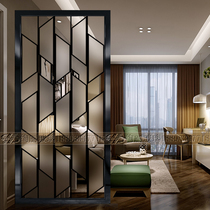 Art Glass modern simple living room screen kitchen bathroom wash basin dry and wet partition Wall Guan scrub flower lattice