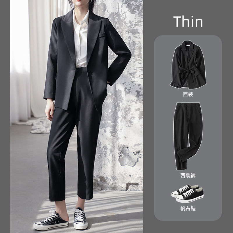 Small suit set female autumn and winter Korean version of the British wind college students fashion temperament work clothes are dressed in work suit suits