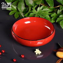 Solid wood lacquer bowl lacquer bowls scarlet lacquer bowl scarlet lacquer bowl lacquer decorative utensils JuJube wood Bowl