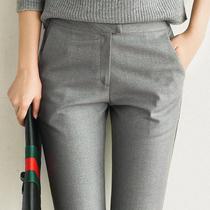 Серый повседневные брюки женщины весна 2020 новый ol работа тонкие укороченные брюки Джокер slim fit профессиональные пригородные брюки женщины