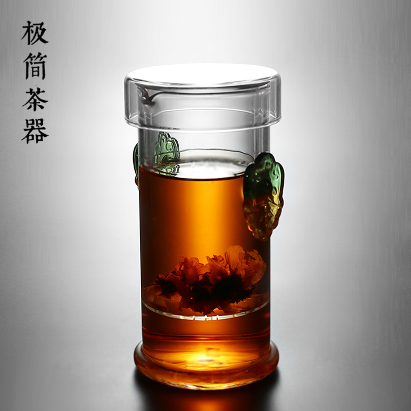 Double-eared black tea filter tea maker Puer small 沖 teaware jug thick bubble teapot kungfu tea set trumpeter