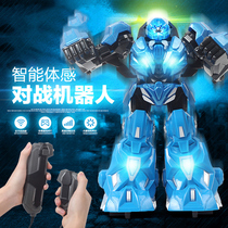 Remote control battle robot large body sense remote control play indoor game 7-10-12 year old toy boy gift