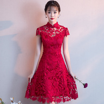 Self-cultivation sweet maiden summer Toast Dress