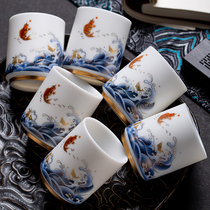 The host cup of enamel enamel sheepgrease jade ceramic tea cup is recommended. The sample tea cup is recommended in 6 gift boxes
