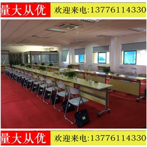 Student desks and Chairs Wholesale tutorial Training Table conference Table Long Table staff Office Training Table Campus Negotiation table