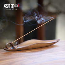 Wide and creative ceramic wire incense oven home indoor Zen-lying incense stove deep-scented sandalwood incense oven fragrance plug