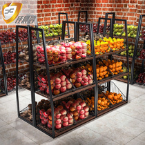 Jia Morning letter fruit and vegetable shelf supermarket convenience store vegetable rack Fruit rack Vegetable shop Fruit shop shelf dish shelf