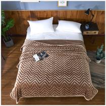 Flannel Blanket Office Nap couverture de genou couverture double simple quatre saison couverture de couverture 5D en relief couverture de climatisation