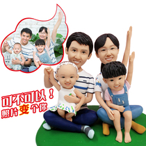Pinch Mud Man Real Custom Soft Pottery Puppet Wax Doll Sculpture DIY Photo Wedding Gift with Mud Hand for Q Edition