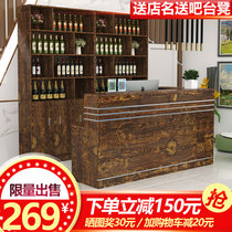 Hotel Bar Cashier Counter Counter Table Commercial shop Simple modern hotel front desk Wine cabinet Combination restaurant wine rack