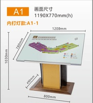 hotel lobby signage floor general flat Map Shopping mall vertical guide brand display index plate floor sign
