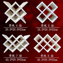 Red wine grid diamond-shaped red wine shelf wine cabinet wine grid custom solid wood wall hanging wine fork square wine grid spot