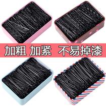 Black slipstick hairpin Korean adult wave clip small black card headgear steel clip girl side clip hairpin hair accessories