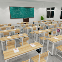 Training table Manufacturers Direct sales Long table single double desks and chairs primary and secondary school cram tutoring training Course Desk