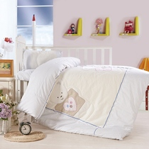 Three piece cotton quilt cotton kindergarten children cotton baby bedding for fall winter set of six or seven core