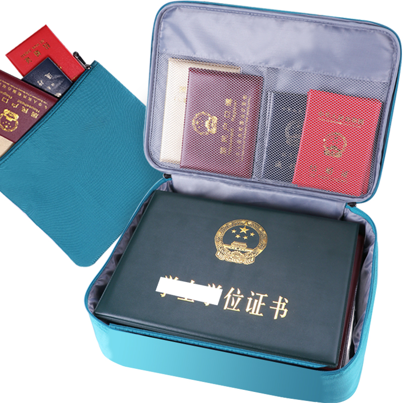 Documents Acceptance Bag for Huge Capacity Multi-function Passport Notes and Documents for Household
