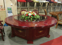 Hotel electric dining table Round Table automatic rotating disc Box 15 people 20 hotel banquet hotpot table and chair combination