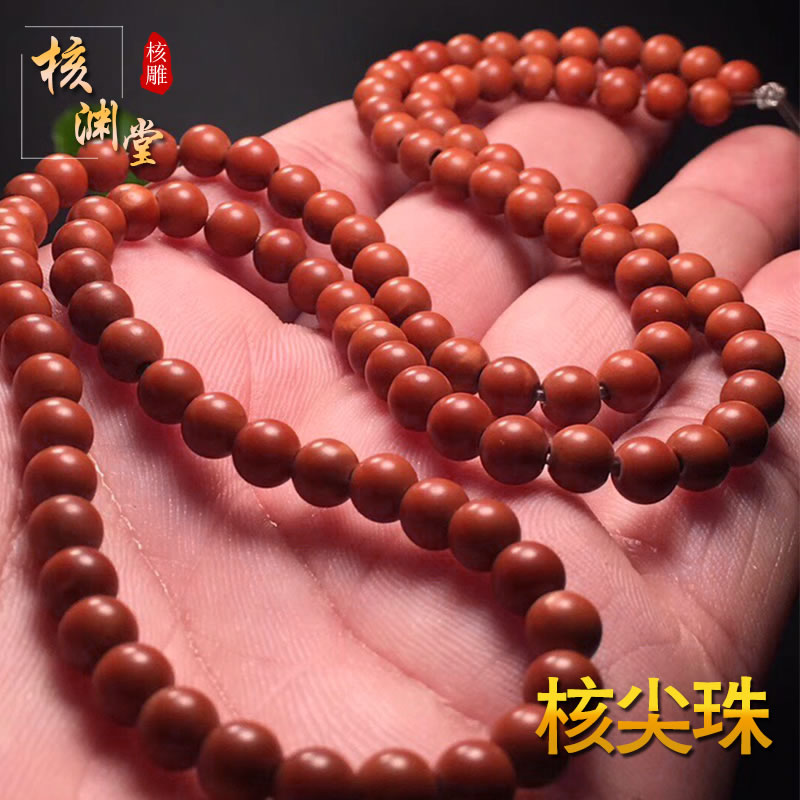 Olive core carving pure hand-polished positive round 108 large nuclear point beads to play neck hanging necklace Buddha beads boutique accessories