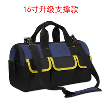 Thickened wear-resistant double-decker Oxford Cloth Kit Electrician Repair Pack telecom grid fitted with a single shoulder oblique cross male canvas