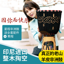 African drum 10 inch 12 inch childrens hand drum Yunnan Lijiang Adult Beginners entry level professional drum old goat