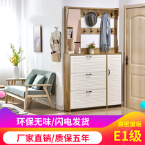 Ultra-thin new assembly tumbler shoe cabinet simple modern foyer cabinet hanger cabinets with mirror cabinets multi-use cabinets