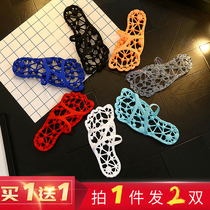Buy a leak of quick-drying slippers foot therapy bath bathroom cool drag anti-skid thick bottom male and female couple hollowed massage