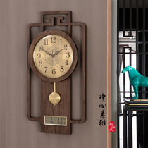 Perpetual calendar wall clock Living room household fashion calendar watch Chinese style silent time New Chinese style decorative quartz clock