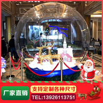 Inflatable snowflake crystal ball Climbing wall Santa Claus arch Christmas tree decorative luminescent cartoon transparent snow popular model