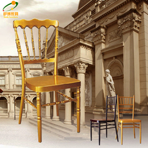 White gold Bamboo Chair outdoor wedding chair Decoration Export hotel dining Chair retro Napoleon Castle Chair