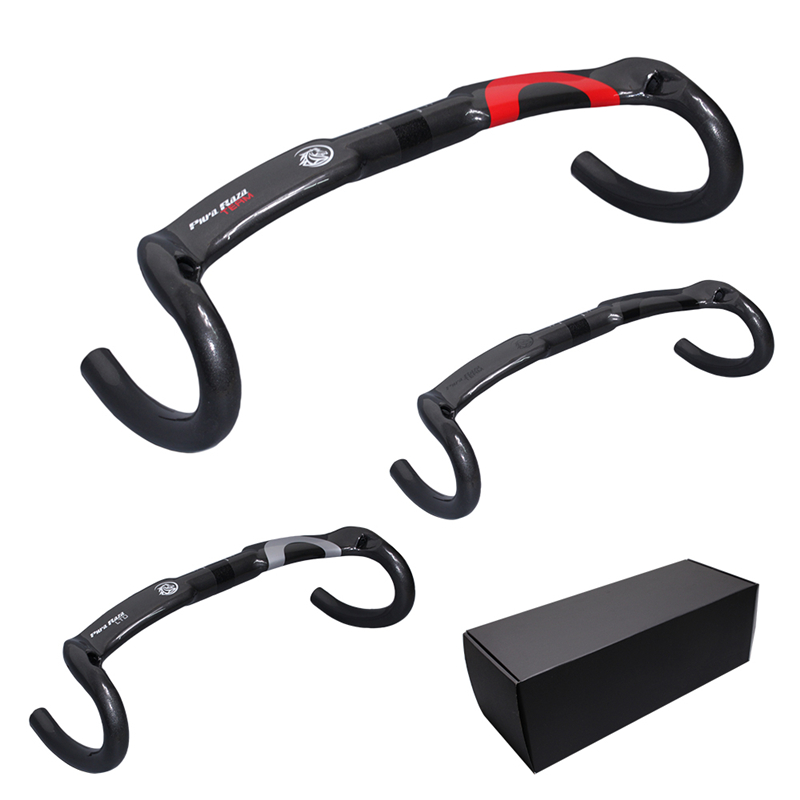 Boxed genuine horse brand full carbon fiber Pura Raza road bike bent handle / racing handle