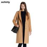Poly 927 398 yuan ochirly ochirly long wool coat lapel embroidery 1YY3346330