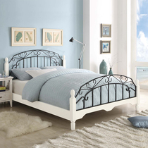 Iron Bed 1.5 m double bed idyllic ins princess bed Iron rack Bed Adult 1.8-meter inn apartment Iron Bed 1.2